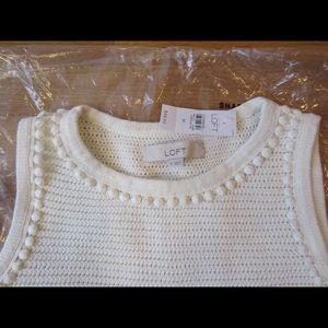 Ann Taylor LOFT-Pom Pom Shell Sweater Tank